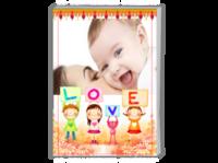 love (家庭,幼儿园成长记录等)-A4时尚杂志册(24p)