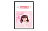 Baby Story(记录宝贝成长的点滴)-8x12单面银盐水晶照片书