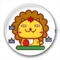哈米星座之狮子座-创意镜子钥匙扣