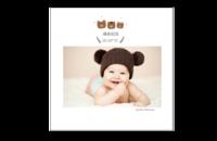 可爱小熊全家福-宝贝成长纪念册-8x8印刷单面水晶照片书21P