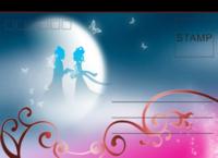 月夜-全景明信片(横款)套装