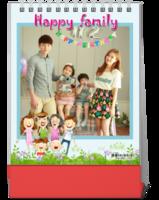 幸福的家庭-快乐的家庭-亲子-全家福(照片可换)-10寸竖款双面