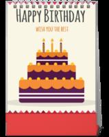 生日礼物之笑口常开-10寸竖款单面