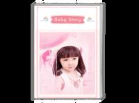 Baby Story(记录宝贝成长的点滴)-A4时尚杂志册(26p)