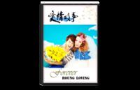 爱情故事Love story(照片可替换)--爱情 潮流 情侣 旅行 情人节 婚纱摄影-8x12单面银盐水晶照片书