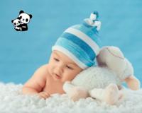 幸福宝宝-30寸木版画横款
