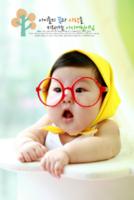 韩式可爱清新萌宝成长书可爱宝贝(图可换)-18寸木版画竖款