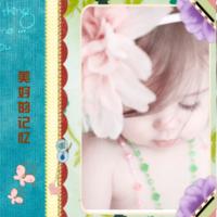 美好的记忆(适合亲子,爱情,青春,全家福,旅行等,封面文字可替换)-8x8双面水晶印刷照片书22p