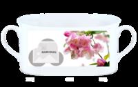 雨后海棠-骨瓷白杯