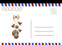 圣诞礼物 英伦风 简洁 通用-全景明信片(横款)套装