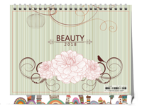 美丽日记(婚纱摄影,情侣纪念,校园青春,个人写真,生日礼物,情人节礼物)-8寸单面印刷台历