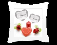 情人节红烛(礼物、婚礼、情侣、祝福)-方形个性抱枕