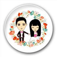 永远在一起个性定制徽章(爱情 情侣 个性 浪漫)-5.8个性徽章