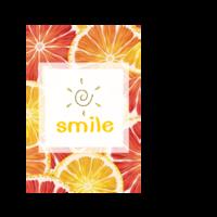 微笑 西柚与橙子  纪念礼物-双面定制扑克牌(圆角)微商