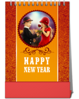 happy new year-10寸竖款单面