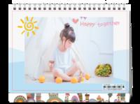 一起快乐 儿童成长路上的小美好 图文可替换-8寸单面印刷台历