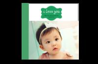 快乐宝贝-8x8印刷单面水晶照片书