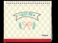 KISS ME-10寸单面印刷台历
