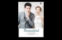 beautiful你和我 美丽记忆在一起 我和你在一起是美丽时光最新韩式怀旧风格婚纱相册大容量模板(图可换)