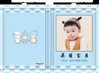 呆萌宝贝(可爱、萌娃、儿童、亲子、卡通、封面图文可换)-硬壳精装照片书20p