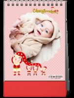 开心宝贝新年快乐--亲子 圣诞 新年 可爱 萌-8寸竖款单面台历