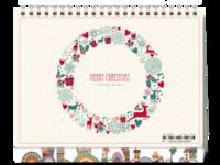 【圣诞节】Merry Christmas·DIY礼物-8寸单面印刷台历