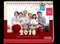 2018狗年大吉-全家福-10寸双面印刷台历