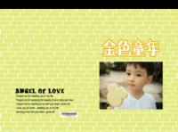 金色童年(封面封底图片可替换)-硬壳精装照片书22p