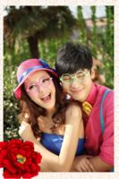 花开富贵-爱情婚纱全家福-15寸木版画竖款
