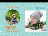 时尚萌宝 内页满景彩图(图册的照片可直接替换)儿童 亲子影楼可用-硬壳精装照片书30p
