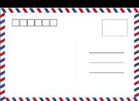 简约英伦风条纹-全景明信片(横款)套装
