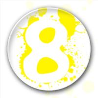 数字八 数字8-5.8个性徽章