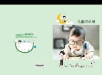 儿童纪念册(文字可修改)   儿童 萌娃 宝贝 照片可替换-硬壳对裱照片书30p