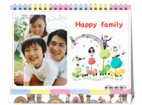 快乐家庭(可爱温馨亲子纪念)-8寸单面印刷台历
