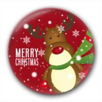 圣诞快乐-创意镜子钥匙扣