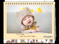 我的宝贝(照片可换台历)-8寸单面印刷台历