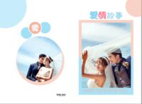 爱情故事(海风吹拂温暖你的心)--情侣 爱情 婚纱摄影-A3硬壳蝴蝶装照片书32p