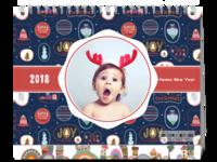圣诞节快乐-封面相框版-等风也等你-8寸双面印刷台历