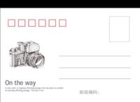 在路上(旅行青春校园系列)-全景明信片(横款)套装