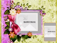 淡紫色花-8寸木版画横款