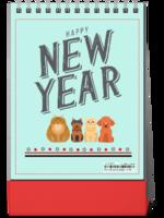 新年快乐(儿童封面图片可更换)-8寸竖款双面