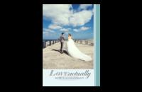 蓝色小清新风-简洁大气婚纱旅行度蜜月模板-致我们的浪漫爱情