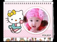 卡通可爱hellokitty猫咪装饰-亲子宝贝 爱情 写真通用-8寸双面印刷台历