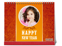 happy new year-10寸双面印刷台历