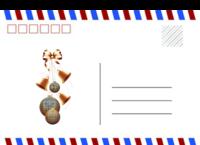 圣诞礼物 英伦风 简约 通用-长方留白明信片(横款)套装