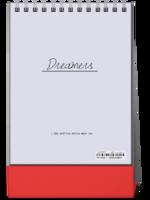Dreamers追逐梦想勇敢前行-图文可改-时尚极简风-8寸竖款双面