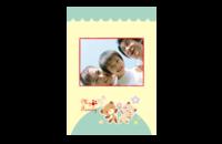 我的家人幸福家庭亲子宝宝快乐生活全家福-8x12印刷单面水晶照片书21p