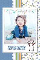 家有萌宝(封面照片可替换)宝宝成长纪念册-8x12双面水晶印刷照片书30p