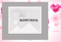 浪漫粉色爱情故事-彩边拍立得横款(6张P)