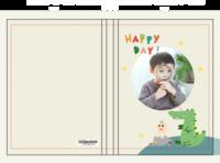 快乐每一天-韩版可爱小清新卡通宝宝相册-硬壳精装照片书20p